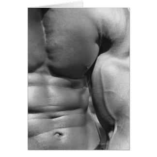 Abdomen y bíceps definidos felicitaciones