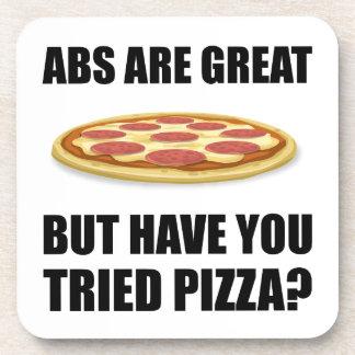 Abdominals Pizza Beverage Coaster