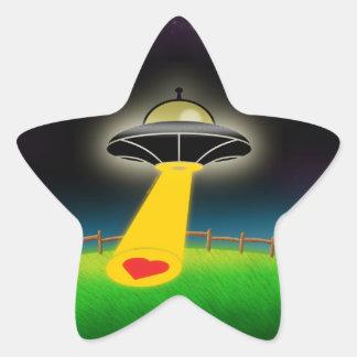 Abducción del amor pegatina en forma de estrella