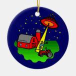 Abducción del extranjero del granjero adorno de navidad