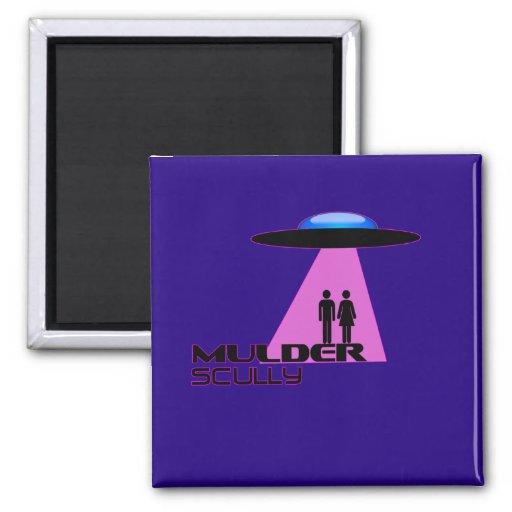 Abducción del extranjero del UFO Imanes De Nevera