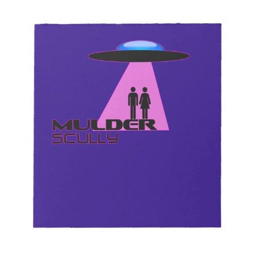 Abducción del extranjero del UFO Libreta Para Notas