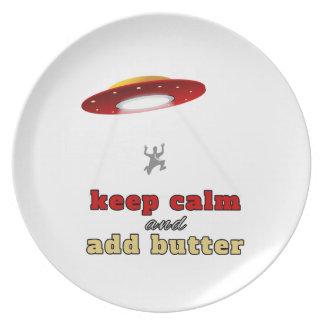 Abducción del UFO: Mantenga tranquilo y añada la m Plato De Comida