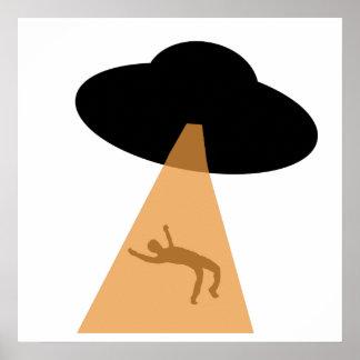 Abducción extranjera del UFO Poster