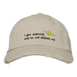 Abducción extranjera gorras bordadas