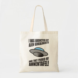 Abducted By Alien Genealogists Canvas Bags