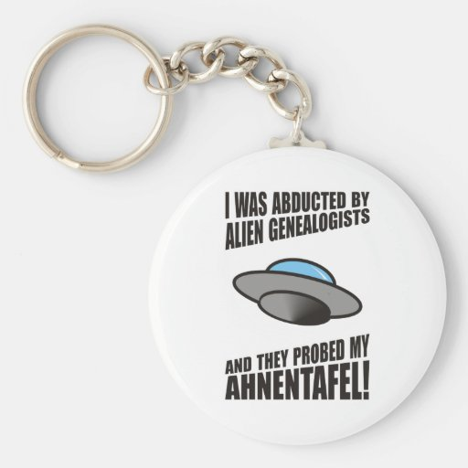 Abducted By Alien Genealogists Keychains