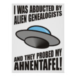 Abducted By Alien Genealogists Posters
