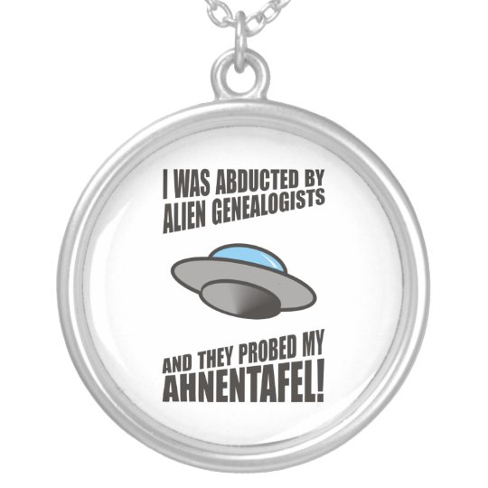 Abducted By Alien Genealogists Silver Plated Necklace