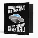 Abducted By Alien Genealogists Vinyl Binder