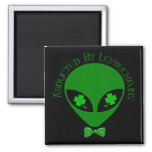 Abducted By Alien Leprechauns 2 Inch Square Magnet