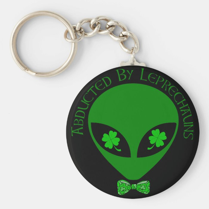 Abducted By Alien Leprechauns Keychain