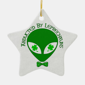 Abducted By Alien Leprechauns Christmas Tree Ornament