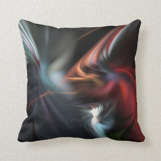 Abduction Muted Colors Fractal 2 Throw Pillow