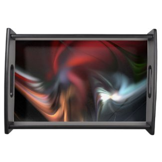 Abduction Muted Colors Fractal Serving Tray
