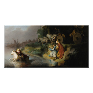 Abduction of Europa by Rembrandt Personalized Photo Card