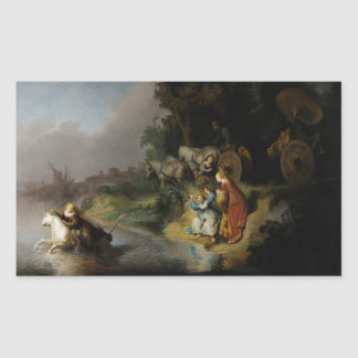 Abduction of Europa by Rembrandt Rectangular Stickers