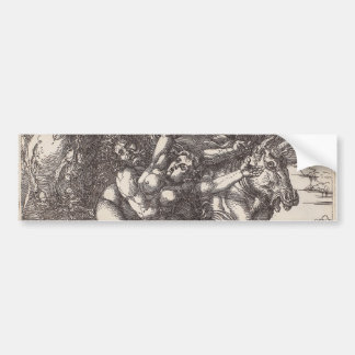 Abduction of Proserpine on a Unicorn by Durer Bumper Sticker