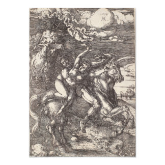 Abduction of Proserpine on a Unicorn by Durer Card