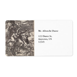 Abduction of Proserpine on a Unicorn by Durer Shipping Labels