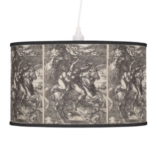 Abduction of Proserpine on a Unicorn by Durer Hanging Lamp