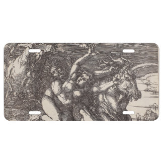 Abduction of Proserpine on a Unicorn by Durer License Plate