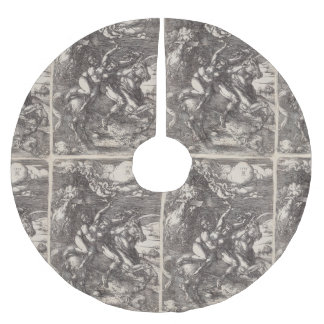 Abduction of Proserpine on a Unicorn by Durer Brushed Polyester Tree Skirt