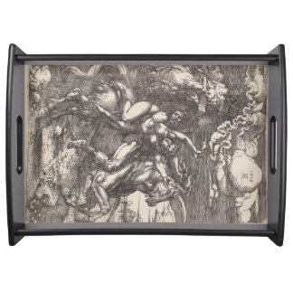 Abduction of Proserpine on a Unicorn by Durer Food Tray
