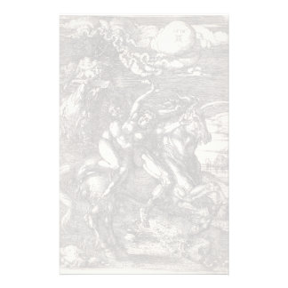 Abduction of Proserpine on a Unicorn by Durer Customized Stationery