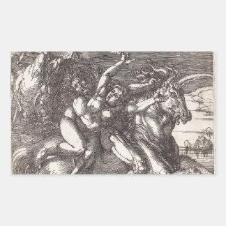 Abduction of Proserpine on a Unicorn by Durer Sticker