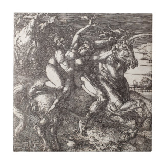 Abduction of Proserpine on a Unicorn by Durer Tile