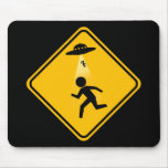 Abduction Road Sign Mouse Pads