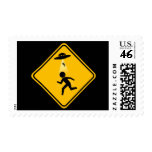 Abduction Road Sign Postage