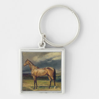 Abdul Medschid' the chestnut arab horse, 1855 Silver-Colored Square Keychain
