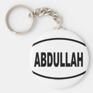 ABDULLAH BASIC ROUND BUTTON KEYCHAIN
