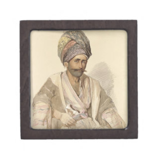 Abdullah - Kurd from Bitlis, 1852 Premium Trinket Boxes