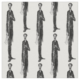 Abe Abraham Lincoln American Republican President Fabric