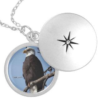 ABE Alaskan Bald Eagle Round Locket Necklace