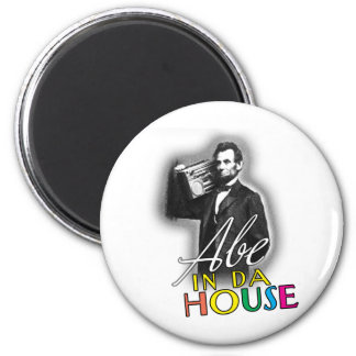 Abe en casa de DA Imán Redondo 5 Cm