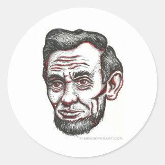 Abe honesto pegatina redonda