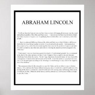 Abe honesto póster