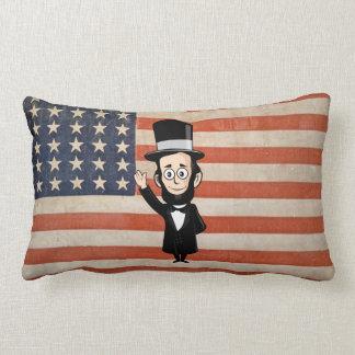 Abe honesto que agita orgulloso con vieja gloria d cojin