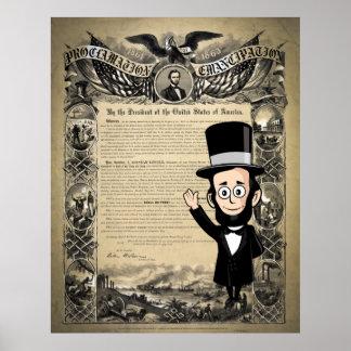 Abe honesto y la proclamación de la emancipación poster