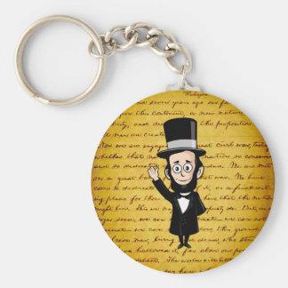 Abe honesto y su dirección de Gettysburg Llavero Redondo Tipo Pin