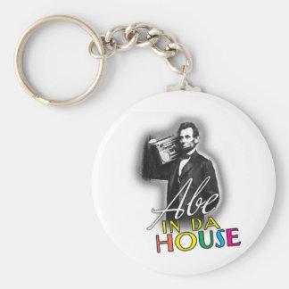 Abe In Da House Keychain