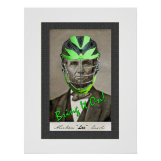 """Abe """"Lax"""" Lincoln Print"""