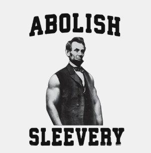 702b853e6ac5a7 Abe Lincoln Abolish Sleevery Tank Top -Funny Shirt