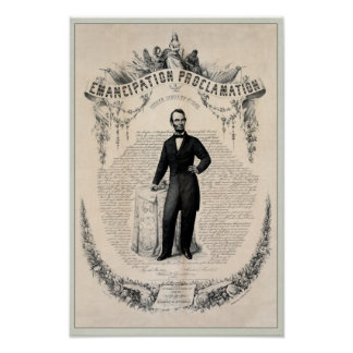 Abe Lincoln and the Emancipation Proclamation Posters