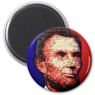 Abe Lincoln - bicentenario Imán Redondo 5 Cm