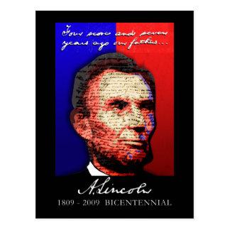 Abe Lincoln - bicentenario Postales